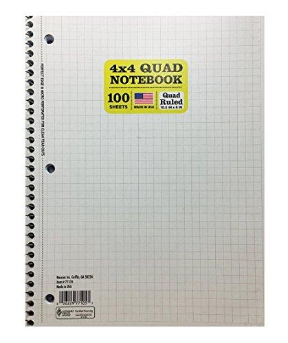 4x4 quad ruled notebook - 8