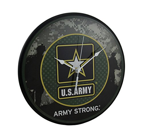 Wood US Army Star Logo Wall Clock