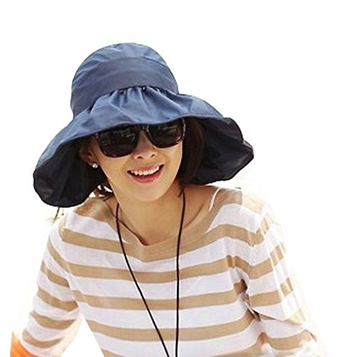 Summer Collapsible Large Wide Brimmed Floppy Sun Hat Anti-UV Beach Sun Visor Hat