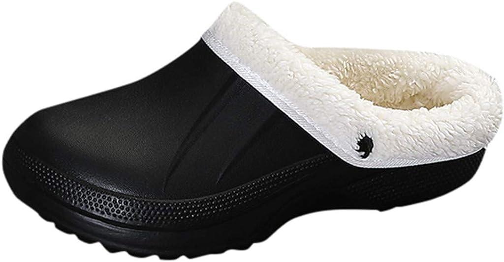 Homme Mousse à Mémoire en polaire chaude doublure en coton Pantoufles À Enfiler Sabots Mules Chaussures Taille