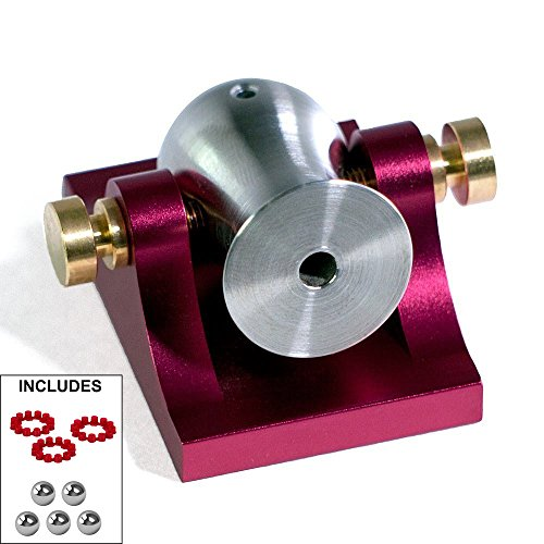 Pocket Artillery Mini Cannon - Red w/ Brass Hardware - Includes Accessories