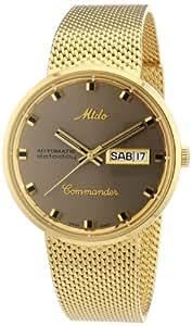 MIDO Belluna M842932413 - Reloj de caballero automático, correa de acero inoxidable color oro