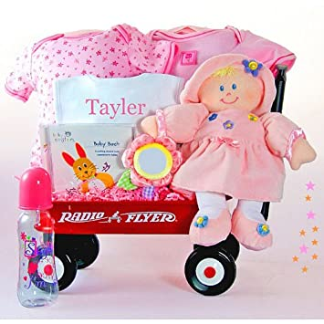 Amazon all girl personalized baby wagon baby gift baskets all girl personalized baby wagon negle Choice Image