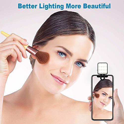 Selfie Ring Light Black 3 Adjustable Brightness Fill Light Compatible for Cell Phones Tablet Video Camera Selfie CHSMONB Rechargeable Led Selfie Light