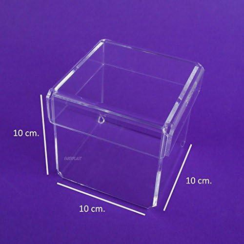 Faberplast FB1133 - Caja, color transparente: Amazon.es: Oficina y papelería