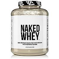 NAKED WHEY 5LB Polvo de proteína de suero de leche 100% alimentado con pasto - Granjas de EE. UU., 1 Sin desnaturalizar, A granel, Sin sabor - Sin OGM, soja y sin gluten - Sin conservantes - Estimular el crecimiento muscular - Mejorar la recuperación -