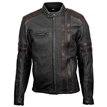 ScorpionExo 1909 Men's Leather Motorcycle Jacket (Brown, X-Large)