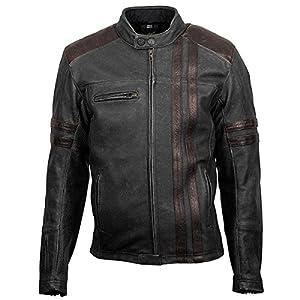Amazon.com: ScorpionExo 1909 Men's Leather Motorcycle Jacket ...