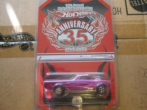 2003 HOT WHEELS RED LINE REDLINE CLUB EXCLUSIVE 35TH ANNIVERSARY 17TH ANNUAL COLLECTOR'S CONVENTION CONVENTION SERIES 4 OF 5 CUSTOM FLEETSIDE PINK FLAMES