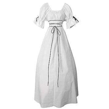 Amazon.com: 4Clovers Women Vintage Short Petal Sleeve O-Neck ...