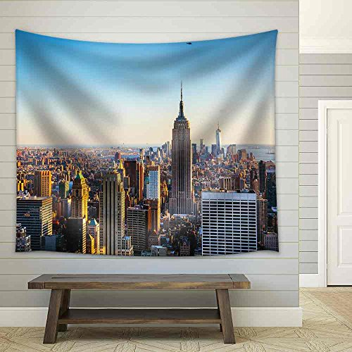 New York City Cityscape on a Sunny Day Fabric Wall