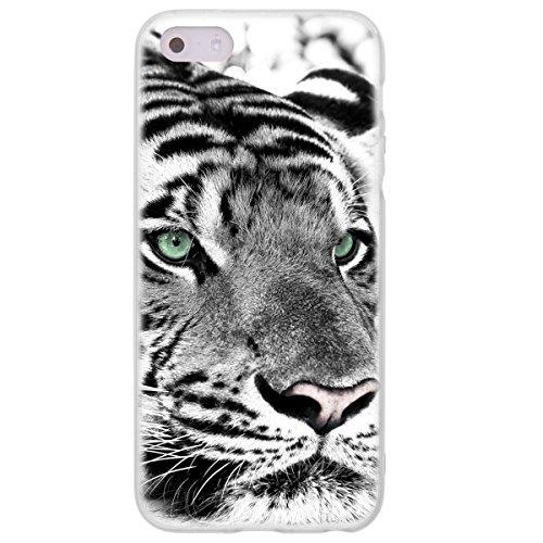 Ooh. Color 025605_ aca014avec motif animaux silicone souple TPU Bumper pour Apple iPhone 5/5S Transparent