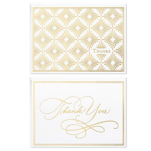 - Hallmark Thank You Cards Assortment, Gold Foil Scroll (50 Thank You Notes with Envelopes for Wedding, Bridal Shower, Baby Shower, Business, Graduation)