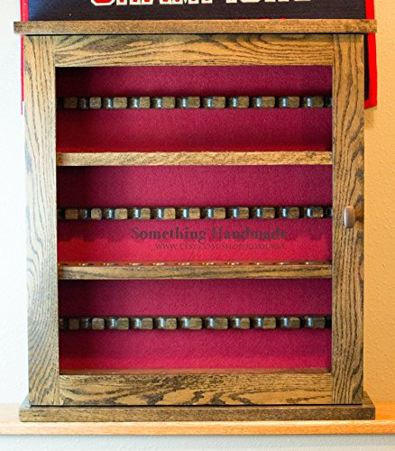 Tobacco Smoking pipe collection cabinet pipe rack. Solid Oak Pipe Display Case 36