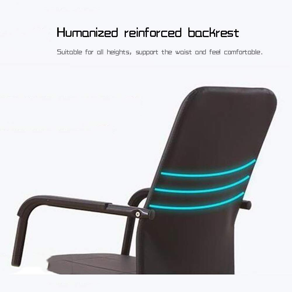 JIEER-C stol kontorsstol ergonomisk verkställande skrivbord stol rosett fot hög rygg dator kontor stol tyg säte tyg säte för kontor möte rum lager kapacitet: 150 kg, brun Brun