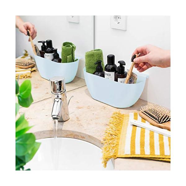 51YzCv8B3YL Navaris 2x Auffangschale für Küchenabfälle zum Einhängen - 2er Set Mülleimer Abfall Behälter für Bio Müll - Abfalleimer…