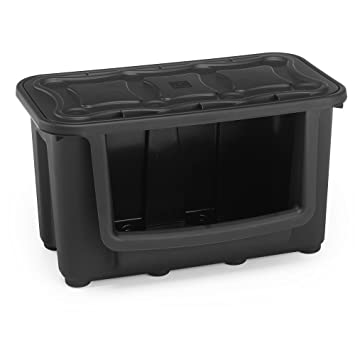 Attrayant HOMZ Modular Storage Tote, Large, Black