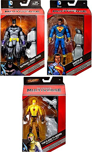 "DC Comics DC Comics Multiverse Batman: Year Zero, Reverse Flash & Earth 23 Superman 6"" Set of 3 Action Figures"