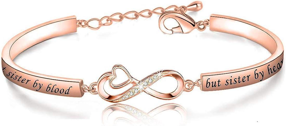 CENWA Not Sister by Blood But Sister by Heart Jewelry Best Sister Bracelet Gift for Best Friend Friendship Bracelet