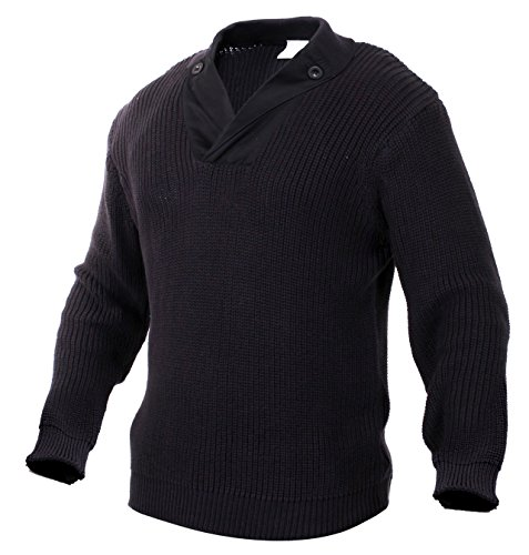 (Rothco WWII Vintage Sweater, Black, 2X)