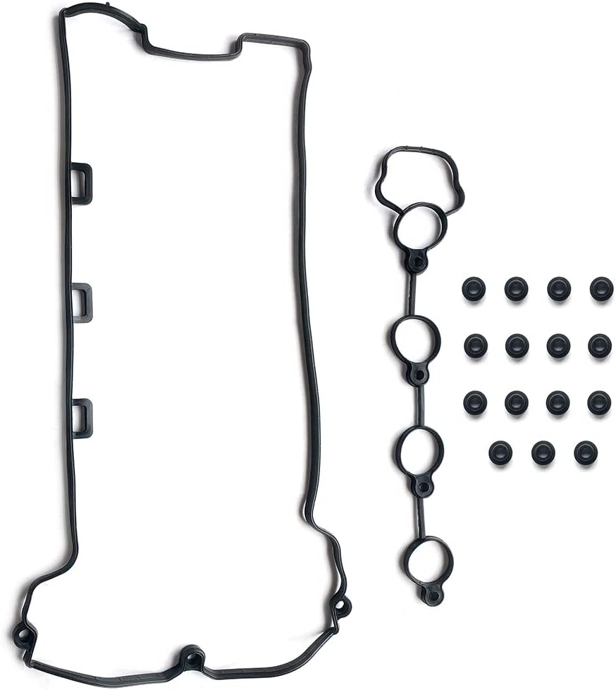ECCPP Engine Replacement Valve Cover Gasket Kit Compatible With Chevrolet Malibu 2.4L 4-Door LS Sedan