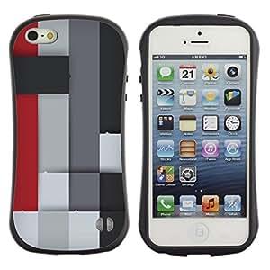 LASTONE PHONE CASE / Suave Silicona Caso Carcasa de Caucho Funda para Apple Iphone 5 / 5S / Colorful Block