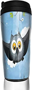 12 oz Tumbler with Lid May Owl Flight Vintage Coffee Cups for Women Men Travel Mugs Birthday Friends Gifts