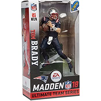 70a9d70db85 McFarlane Toys EA Sports Madden NFL 18 Ultimate Team Tom Brady New England  Patriots Action Figure Minutemen Retro Uniform Exclusive