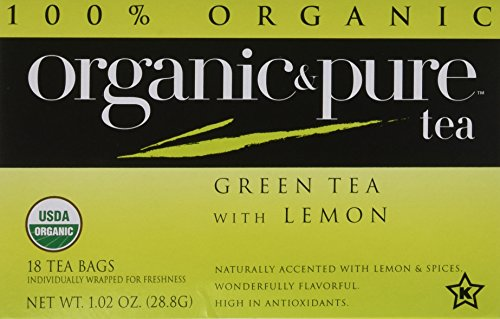 - Organic & Pure Green Tea Lemon, 18-count (Pack of6)