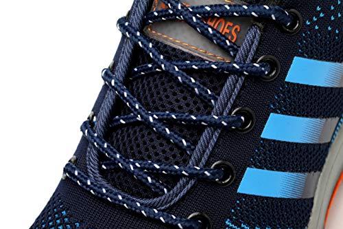 in di 1 escursionismo Aizeroth Uomo Punta Lavoro da da cantiere antinfortunistiche Edilizia Sicurezza Comodissime UK Donna S3 Stival Scarpe Traspiranti Scarpe Blu Industria con Sneaker Acciaio Calzature per 1pqO1fx