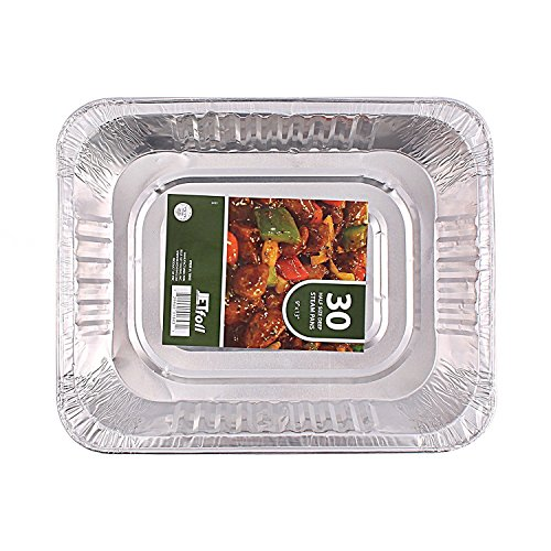 (Jetfoil SYNCHKG127525 1843 Aluminum Foil Steam Table, Half Size Deep, 9x13 Pans (30)