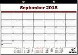 2018-2019 Monthly Desk Pad Calendar/Wall Calendar, 18 Month, Now - December 2019, 12'' x 17''