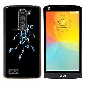 "For LG L Prime D337 / L Bello D337 , S-type Esqueleto del cráneo de Fútbol"" - Arte & diseño plástico duro Fundas Cover Cubre Hard Case Cover"