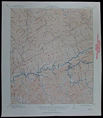 Harland Pine Mountain Cumberland river Kentucky vintage 1951 USGS topo chart map