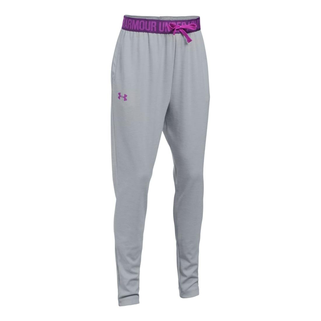 Under Armour Girls Novelty Tech Jogger, Grey/Indulge, SM (8 Big Kids) x One Size