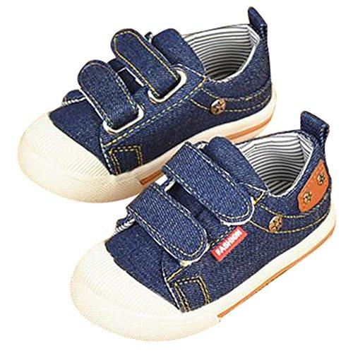 hibote Moda Niños Zapatos Kids Child Zapatillas por Boys Canvas Zapatos Pantalones Calzado Moda Niños Zapatos Kids Child Zapatillas por Boys Canvas Zapatos Pantalones Calzado Azul oscuro