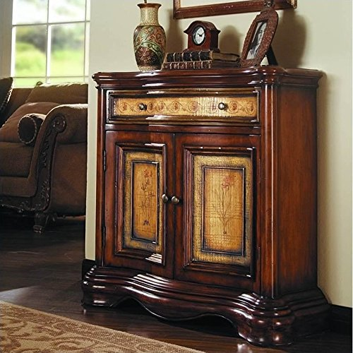 Hooker Furniture Two-Tone Shaped Hall Chest, Hand Painted two Tone by Hooker Furniture