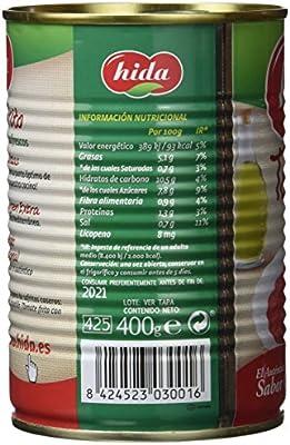 Hida Tomate Frito con Aceite de Oliva Virgen Extra - 400 g: Amazon ...