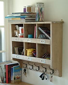 Wall Mounted Storage Shelving with Hooks Amazoncouk Kitchen Home