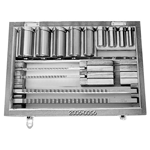 HHIP 2006-0056 30 Piece Keyway Broach Set, 1/8-3/16-1/4-5/16-3/8 Inch by HHIP