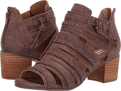 Toe Leather Open Bootie - Not Rated Womens Cullie Taupe Pu 7.5 M