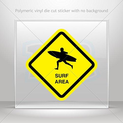 - Sticker Surf Area Sign Decoration Bike Motorbike Bicycle Vehicle ATV c (7 X 7 Inches)