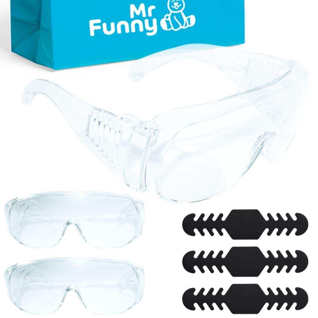 MegaPack de Gafas de Protección y Seguridad Transparentes - Cómodo para Uso Diario (trabajo) con Ventilación Lateral - Anti Salpicaduras, Impactos y Polvo con Certificación Europea - Regalos Extra