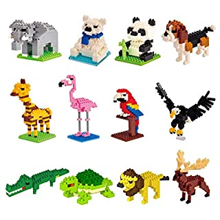12PCS Party Favors for Kids Mini Animals Building Blocks for Kids Prizes Birthday Gifts Goodie Bag Fillers