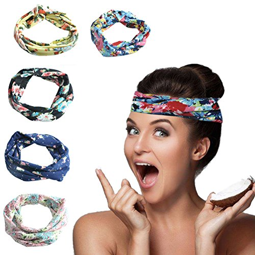 Women Headband Summer's Whisper Cotton Headwear Handwraps Hair Band For Sports Workout Yoga Daily Wear-5 (Cotton Reversible Headband)