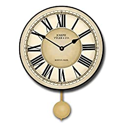 The Big Clock Store Waterford Pendulum Wall Clock, Available in 5 sizes, Whisper Quiet, non-ticking
