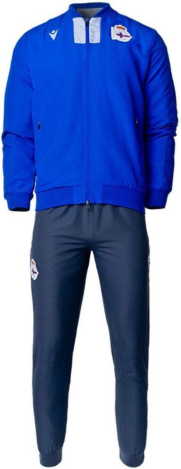Ch/ándal Macron RC Deportivo La Coru/ña Paseo 2019-2020 Blue-Anthracite