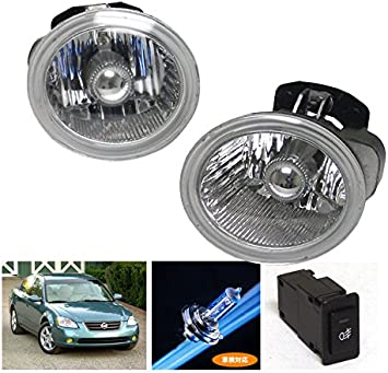 For 2015-2018 Nissan Murano LED Clear Lens Fog Lights Complete Kit With Harness