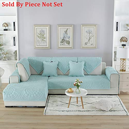 Sectional sofa throw cover pad All season Sofa furniture protector for pets dog Anti-slip Cotton Solid color Sofa throw slipcover-1 piece-A 28x28inch(70x70cm)