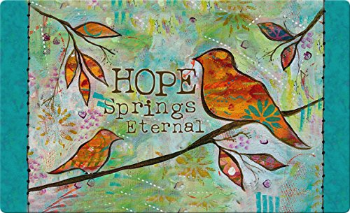 (Toland Home Garden Hope Springs Eternal 18 x 30 Inch Decorative Bird Floor Mat Inspirational Doormat)
